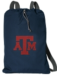Texas A&M Cotton Drawstring Bag Backpacks Cool Navy