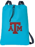 Texas A&M Cotton Drawstring Bag Backpacks Blue
