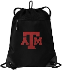 Texas A&M Drawstring Backpack-MESH & MICROFIBER