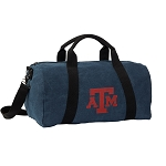 Texas A&M Duffel RICH COTTON Washed Finish Blue