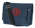 Texas A&M Messenger Bags STYLISH WASHED COTTON CANVAS Blue