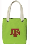 Texas A&M Tote Bag RICH COTTON CANVAS Green