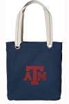 Texas A&M Tote Bag RICH COTTON CANVAS Navy