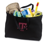 Texas A&M Jumbo Tote Bag Black