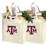 Texas A&M Shopping Bags Texas A&M Aggies Grocery Bags 2 PC SET