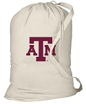 Texas A&M Laundry Bag Natural