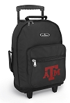 Texas A&M Rolling Backpacks Black