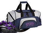 TCU Texas Christian Small Duffle Bag Navy