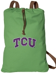 TCU Cotton Drawstring Bag Backpacks Cool Green