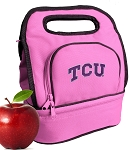 TCU Texas Christian Lunch Bag Pink