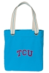 TCU Tote Bag RICH COTTON CANVAS Turquoise