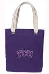 TCU Tote Bag RICH COTTON CANVAS Purple