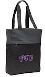 TCU Texas Christian Tote Bag Everyday Carryall Black