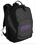 TCU Texas Christian Deluxe Laptop Backpack Black