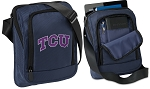 TCU Texas Christian Tablet or Ipad Shoulder Bag Navy