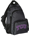 TCU Texas Christian Backpack Cross Body Style Gray