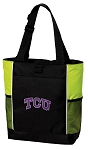 TCU Texas Christian Tote Bag COOL LIME