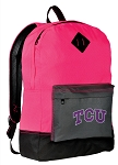 Texas Christian Backpack Classic Style HOT PINK