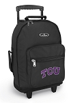 TCU Texas Christian Rolling Backpacks Black