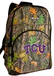 TCU Texas Christian Backpack REAL CAMO DESIGN