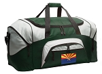 Large Arizona Flag Duffle Bag Green