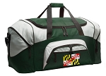 Large Maryland Flag Duffle Bag Green