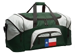 Texas Flag Duffle Bag Green