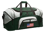 Large American Flag Duffle Bag Green