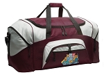 Crazy Cat Duffle Bag Maroon