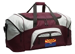 Large Arizona Flag Duffle Bag Maroon