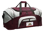 California Flag Duffle Bag Maroon