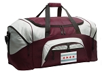 Large Chicago Duffle Bag Maroon