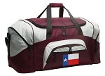 Large Texas Duffle Bag Maroon