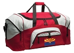 Arizona Duffle Bag or Arizona Flag Gym Bags Red
