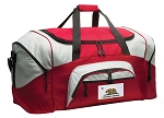 California Flag Duffle Bag or California Gym Bags Red