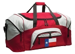 Texas Flag Duffle Bag or Texas Gym Bags Red