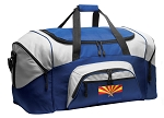 Arizona Flag Duffle Bag or Arizona Gym Bags Blue