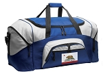 California Duffle Bag or California Flag Gym Bags Blue