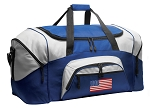 American Flag Duffle Bag or USA Flag Gym Bags Blue