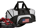 Small American Flag Gym Bag or Small USA Flag Duffel