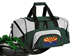 SMALL Arizona Flag Gym Bag Arizona Duffle Green