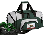 California Flag Small Duffle Bag Green