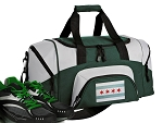 Chicago Flag Small Duffle Bag Green