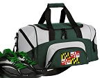 SMALL Maryland Flag Gym Bag Maryland Duffle Green