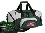 SMALL American Flag Gym Bag USA Flag Duffle Green