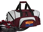 SMALL Arizona Flag Gym Bag Arizona Duffle Maroon
