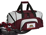 California Flag Small Duffle Bag Maroon
