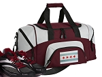 Chicago Flag Small Duffle Bag Maroon
