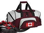 Canadian Flag Small Duffle Bag Maroon