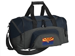 SMALL Arizona Flag Gym Bag Arizona Duffle Navy